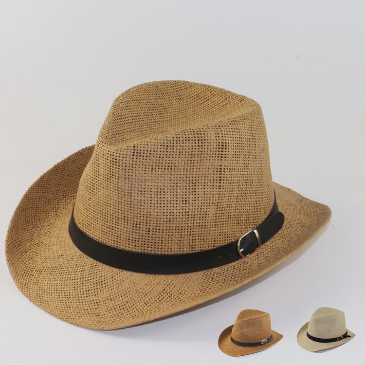 Straw Beach Hats For Men Beach Sun Straw Jazz Hat
