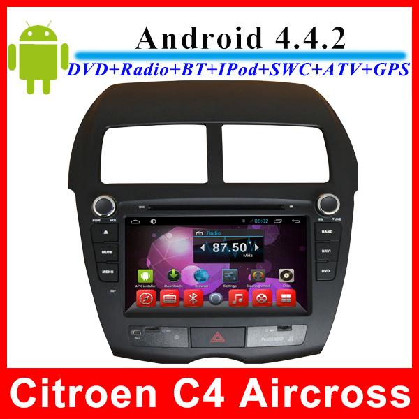 Автомобильный DVD плеер LG Android 4.4 8/DVD/citroen C4 Aircross/Peugeot 4008/Mitsubishi ASX 2010 2011 GPS