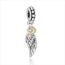 925 Sterling Silver European Bead charm Diy For Women Snake Bracelet Pendants Necklace Cupid Love Wing of Angel Brand Fashion