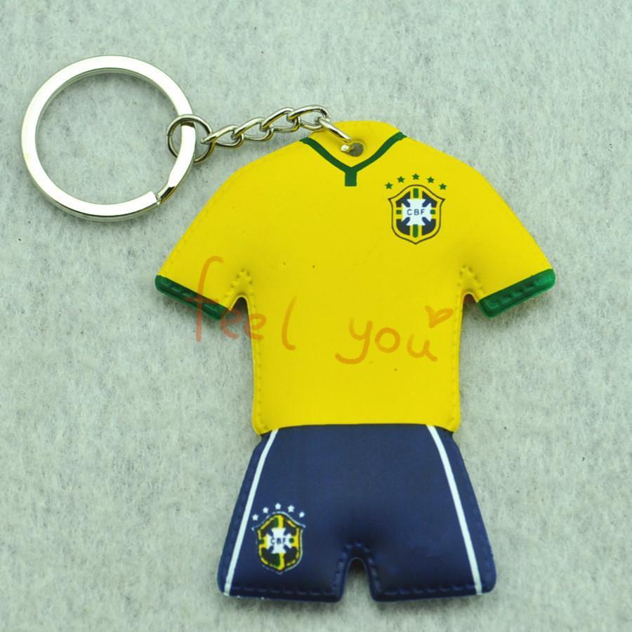 Brasil Logo Soccer/football National Team Keychain Jersey Commemorative Keyring(China (Mainland))