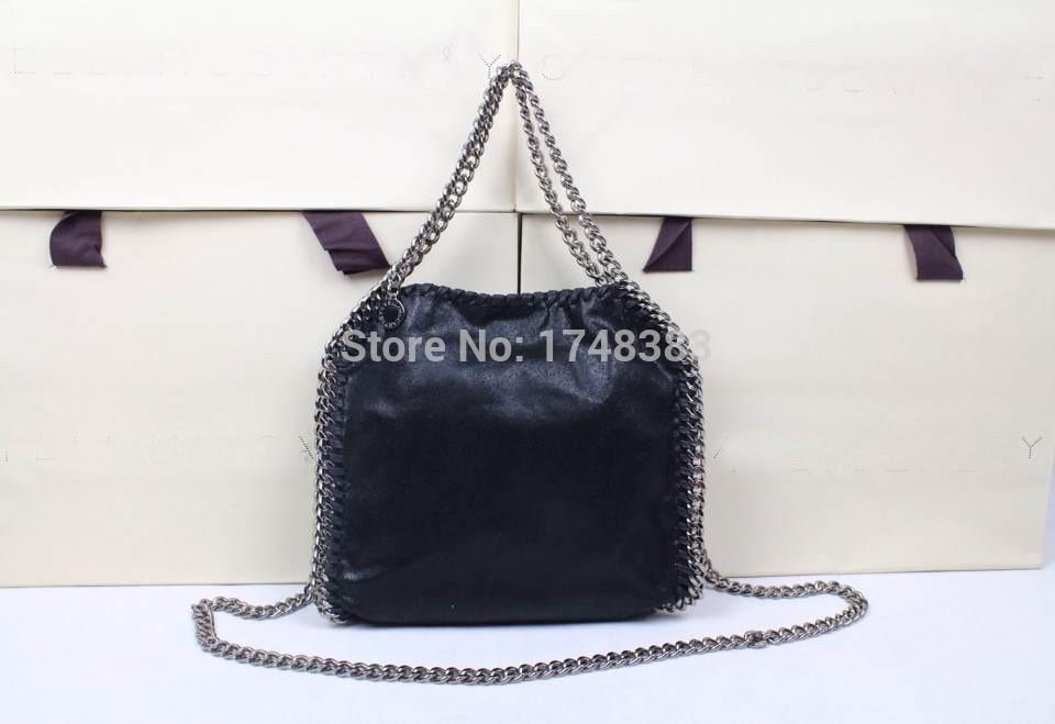 2015 New Desigual Handbag PVC Material Falabella Triple Chain Tote Bag Large Heavy Chain messenger Bag(China (Mainland))