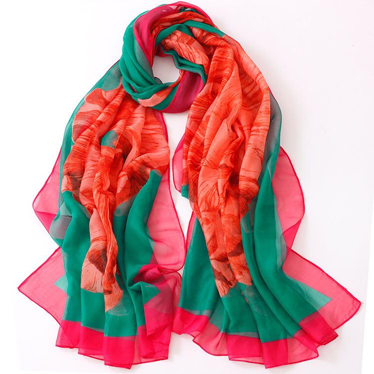 Hot New 2015 Women High Quality Soft twill chiffon scarf fashion ladies scarves desigual brand Georgette material 180*100cm(China (Mainland))