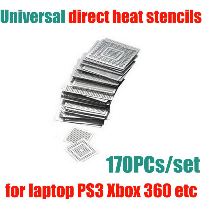 170 pcs/lot BGA kit direct heat stencils (82HM55 82PM45 LGA1156) for desktop laptop PS3 Xbox360 etc(China (Mainland))