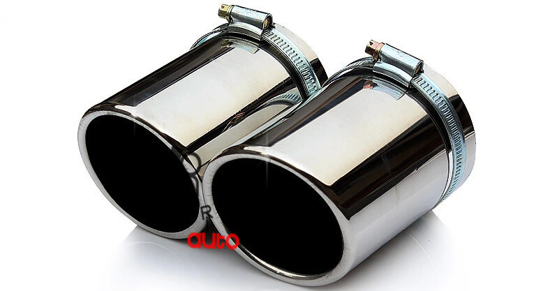 2 pcs stainless steel exhaust pipe the car's exhaust muffler is modified car tail throat liner For AUDI A4 2009(China (Mainland))