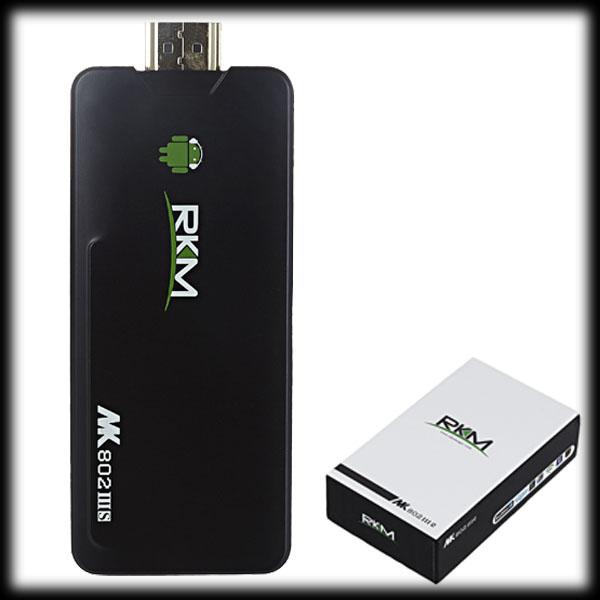 by dhl or ems 20pcs MK802 IIIS Mini PC Bluetooth Android 4.2.2 box 1GB RAM 8GB ROM HDMI(China (Mainland))