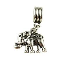 Women Jewelry Plated Beads Charm Silver Elephants Pendent Bead Fit pandora charms silver 925 original JPP14