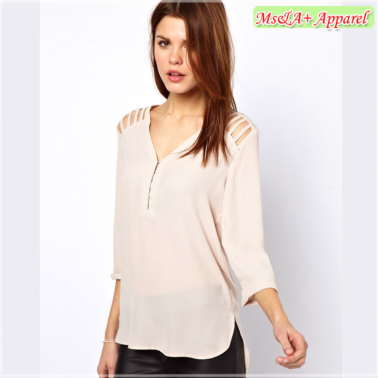 Light Pink Chiffon Blouse