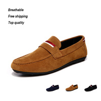 Summer breathable huarache shoe 2015 wearbale rubber sole for driving men sneakers  leather sitiching style sapato masculino