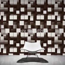 #6259- 3D Modern Geometric Wallpaper,3D Home WallPaper,Black White- 2colors W0.53m*L10m/roll(China (Mainland))