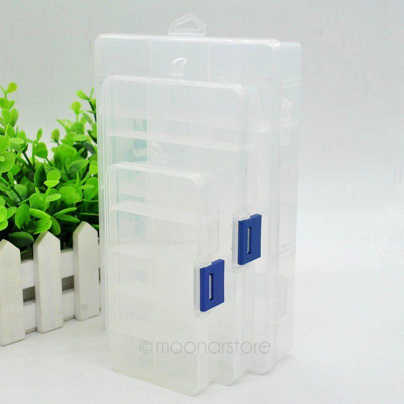 10/15/24 Slot Home Organizer Storage Beads Box Plastic Transparent Adjustable Jewelry Box Packaging Case PJJ0078*55(China (Mainland))