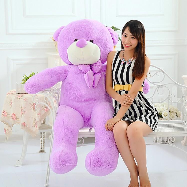 Discount purple plush huge large teddy bear 100cm/1m lavender smell stuffed animals bear big soft toy romantic valentine gift(China (Mainland))