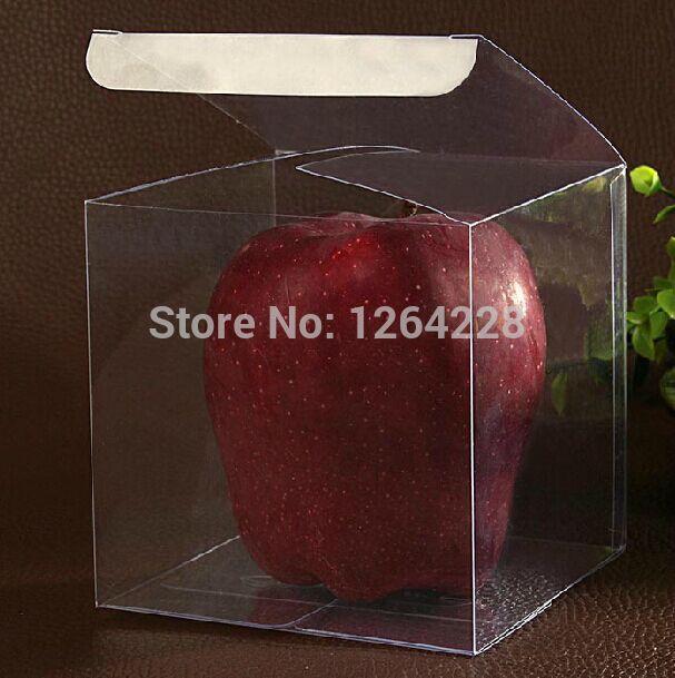 50PCS Clear PVC Candy Box 11*11*11cm/wedding favor box/plastic gift box/ cake box(China (Mainland))