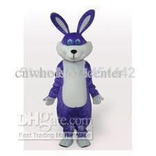 On Sale ,Fast custom new Purple Easter Bunny Rabbit Cartoon Fancy Dress Mascot Costume Adult Character Cosplay free shipping(China (Mainland))