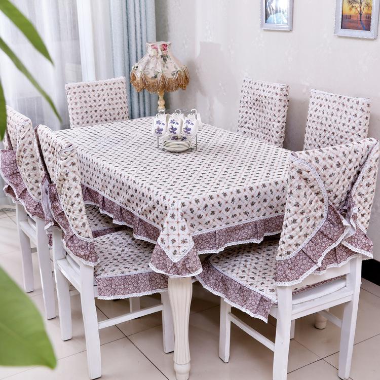 tablecloth flower design nappe de table pastoral style. Black Bedroom Furniture Sets. Home Design Ideas