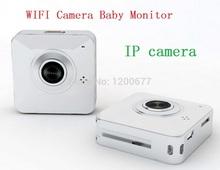 HOT Geometric IP camera wifi baby monitor HD 720P Intercom baba eletronia Mini 30fps cameras monitors for IOS/Android smartphone
