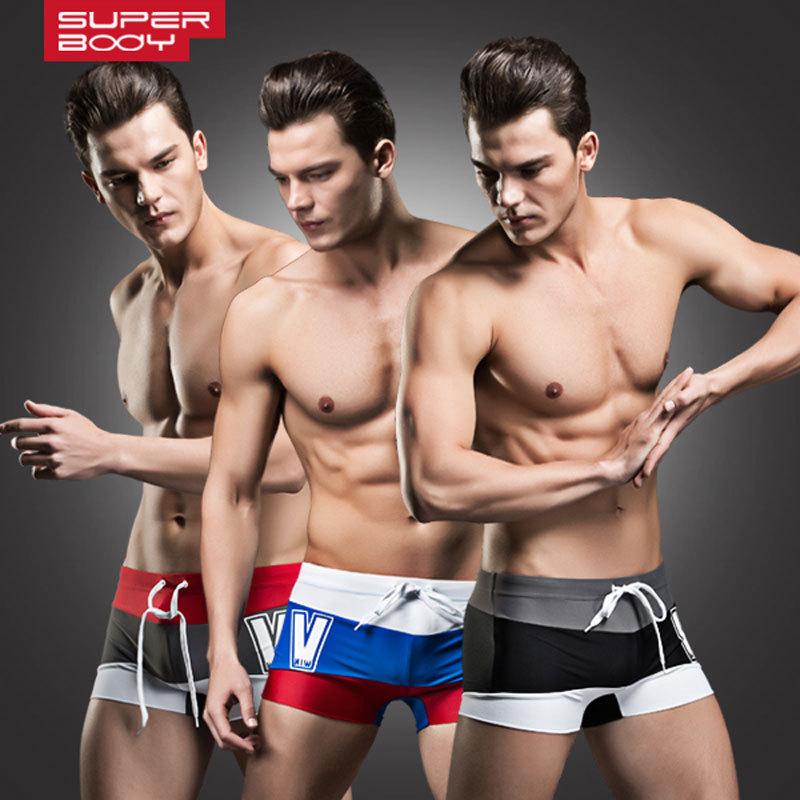 Плавательные шорты для мужчин Superbody 2015 s swimwear плавательные шорты для мужчин superbody