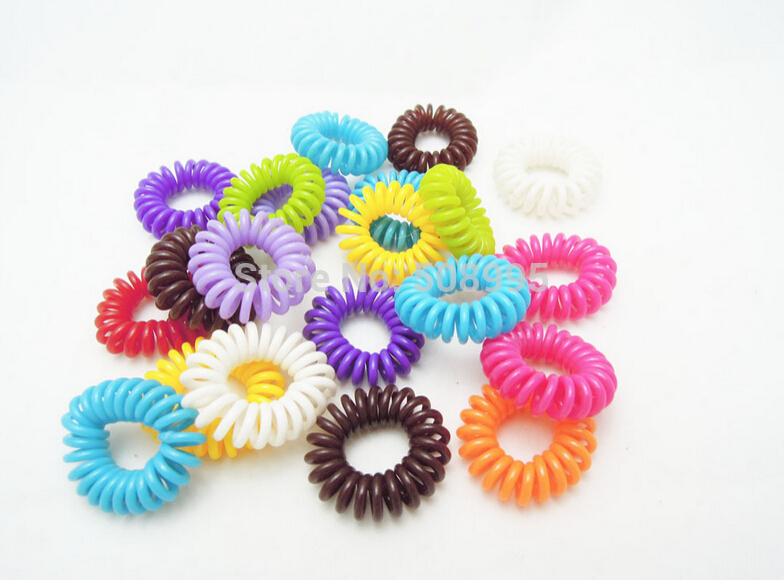 10 пк девочки волос веревка ленты телефон шнур прорезиненная тесьма хвост держатели волос кольцо scrunchies для девочка резина лента перевязка