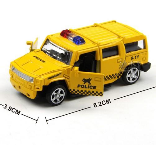 2015 New metal patrol wagon Rushed Mini Pull Back Model Set Car Educational Toys Children gift(China (Mainland))
