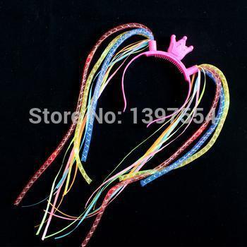led hair braid led noodle headband hairband led noodle headband for events(China (Mainland))