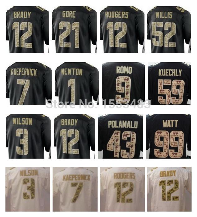 Hot 88 Dez Bryant Salute To Service Jersey Black 8 Troy Aikman 22 Emmitt Smith 33 Tony Dorsett Game Jersey Cheap Price(China (Mainland))