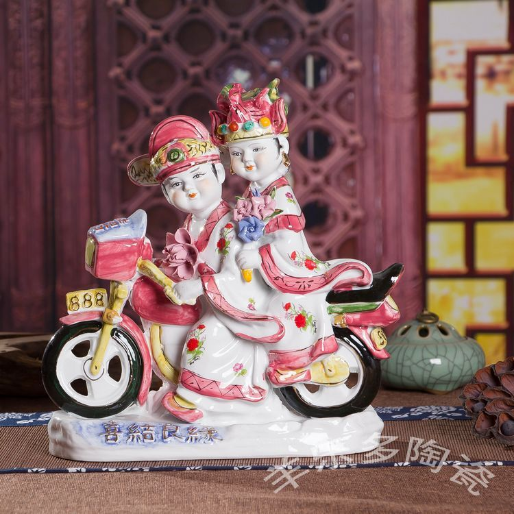 Married wedding wedding gift ideas upscale practical ceramic home accessories living room ornaments crafts(China (Mainland))
