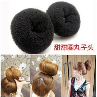 Free shipping 76083, 2 fitted black ball head plate hair, fashion headwear(China (Mainland))