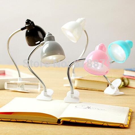 Booklight LED Book Light Mini Flexible Bright Clip on Book Reading Desk Lamp(China (Mainland))
