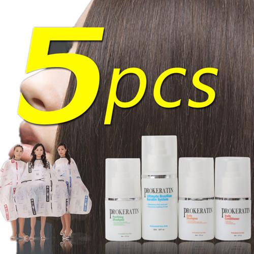 Набор по уходу за волосами Prokeratin 5pcs/+ Brazilian Keratin Straightening набор по уходу за волосами prokeratin 120 brazilian keratin straightening