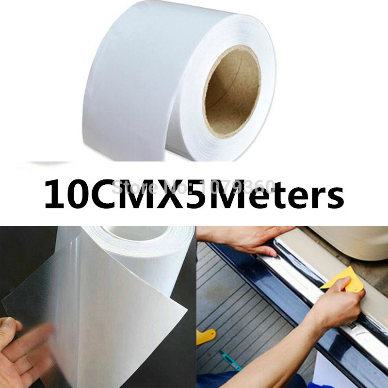 10cm/12cm/15cm x5M Rhino Skin Sticker Car Bumper Hood Paint Protection Film PVC Vinyl Clear Transparence Film For Car(China (Mainland))