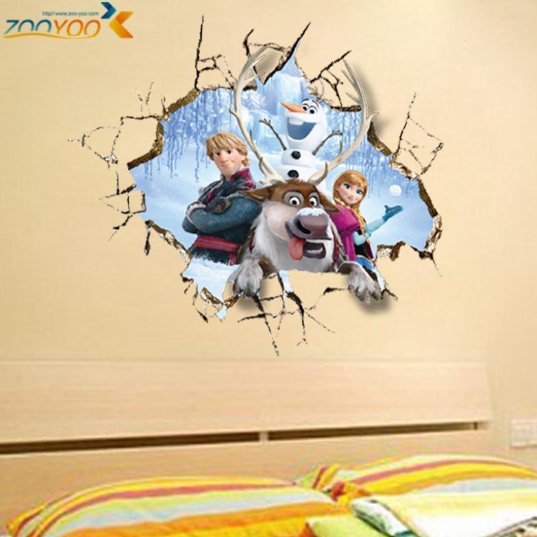 movie wall stickers home decor girls bedroom home decorations diy cartoon wall decals creative kids room wall art zooyoo1421(China (Mainland))