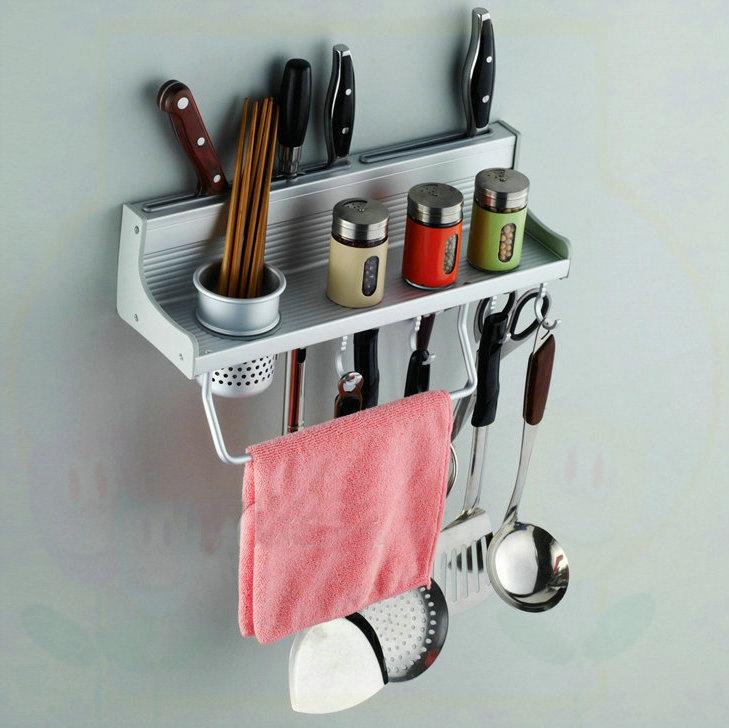 Free Shipping 40cm Long Aluminum Kitchen Racks Kitchen Storage Shelf Single CUPs Dinnerware Shelf Holders Racks white paint bath(China (Mainland))