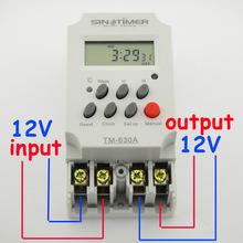 Amp 12 В dc мини таймер переключатель, 7 дн. программируемый 24 ч. таймер реле бесплатная доставка