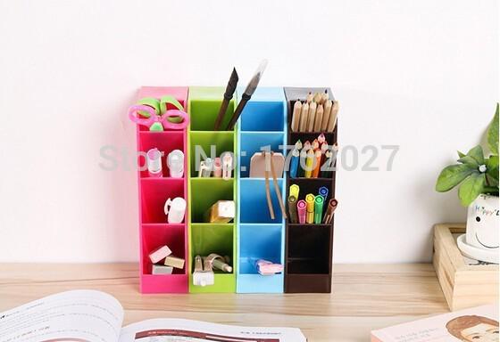 Free Shipping colorful four grid underwear socks plastic pp drawer storage boxes orangizer box F0074/K(China (Mainland))