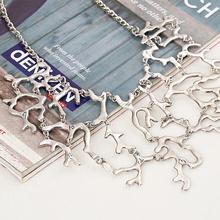 Womens Fashion Vintage Coral Branch Shape Choker Chain Necklace Metal Gold Silver Jewlery