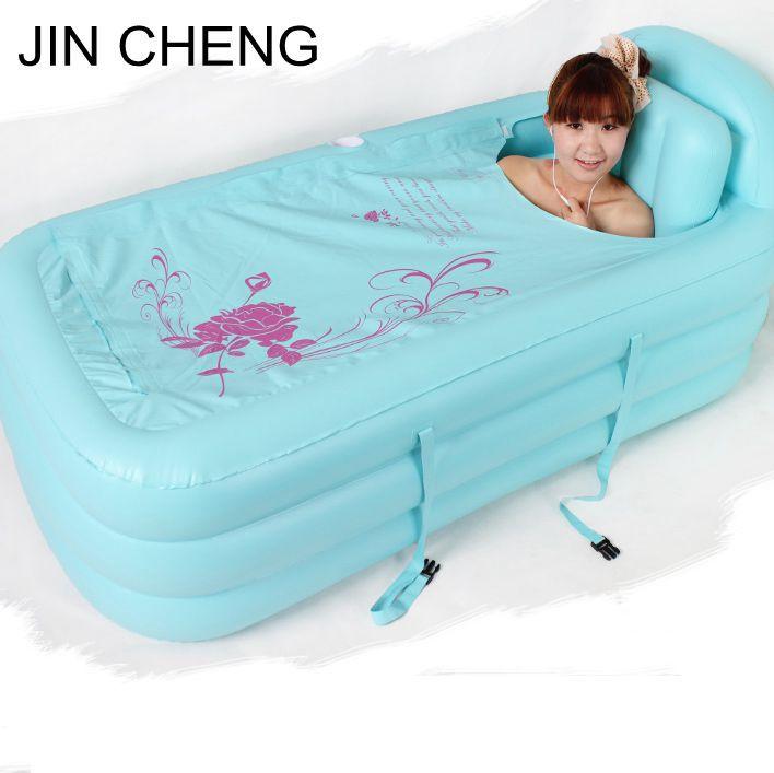 Adult Spa folding Portable bathtub creative household inflatable bath tub For Kids Gift(China (Mainland))