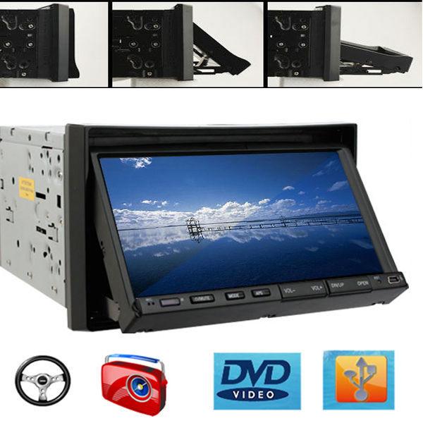 "Double 2 Din 7"" Car Stereo Audio None GPS Universal Car DVD Player Radio Steer Wheel Media BT FM/AM/RDS (Optional Camera+GPS)(China (Mainland))"