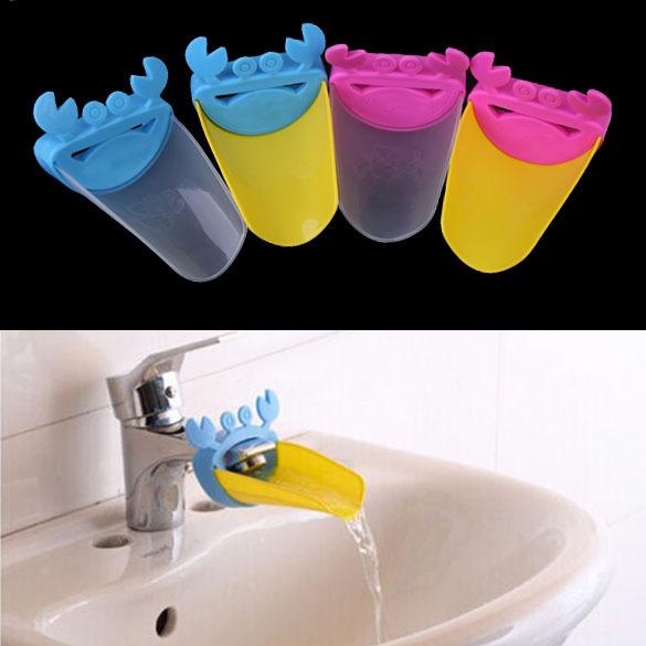 Высокое качество симпатичные кран раковины ванной комнаты желоб расширитель краб дети дети мытье рук бесплатная доставка