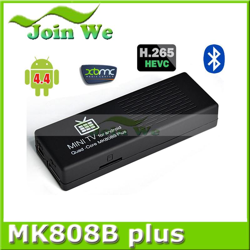 5pcs/lot MK808B Plus Android 4.4 HDMI TV Stick TV Dongle Amlogic M805 Quad-Core 1GB 8GB Mini PC Bluetooth kodi(China (Mainland))