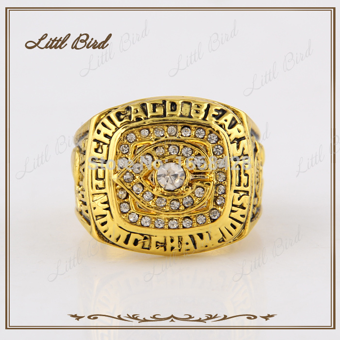 Discount Replica Chicago Bears 1985 Baseball Championship Rings Custom Fashion Sport Jewelry Ring Gold Super Bowl(China (Mainland))