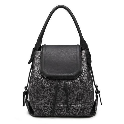 Wholesale Embossed Black school bags travel bags girls Multifunction Women Pu lerher backpack Fahion women backpacks(China (Mainland))