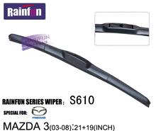 RAINFUN 21+19 dedicated car wiper blade for old MAZDA 3 (03-08), car Wiper auto soft windshield wiper, 2 size in one box