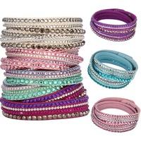 DGW 17 Colors New Unisex Multilayer Leather Bracelet Christmas Gift Charm Bracelets Vintage Jewelry For Women Pulsera