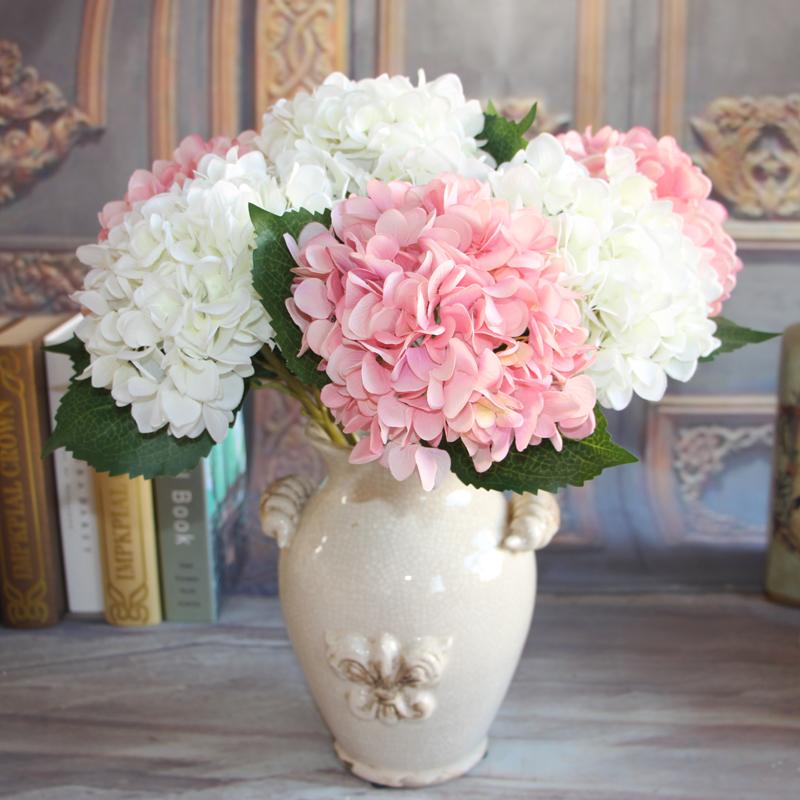 Yellow French Rose 1 Bouquet Artificial Silk Peony Flower Arrangement Room Hydrangea Wedding Decor Party DIY(China (Mainland))