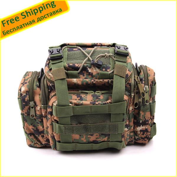 Camouflage Large-capacity multi-purpose outdoor Bag fishing Bait gear pockets / bag Fishing package Fishing bag Free Shipping(China (Mainland))