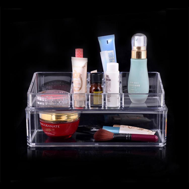Factory direct wholesale cosmetics toiletries transparent crystal jewelry jewelry modular storage box(China (Mainland))
