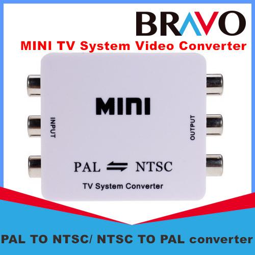 Free shipping Mini RCA Video PAL to NTSC Bi-directional MINI TV Video System Converter PAL TO NTSC or NTSC TO PAL converter(China (Mainland))