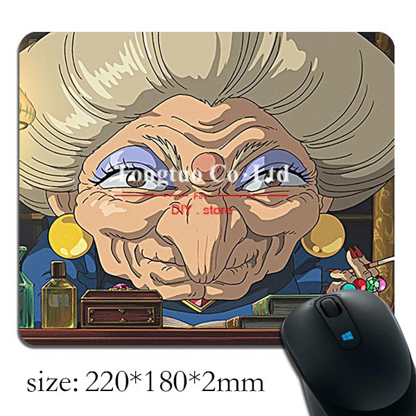 unique design spirited away background pattern comfortable notebook mouse pad / anti-slip mouse pad / rubber mouse pad(China (Mainland))