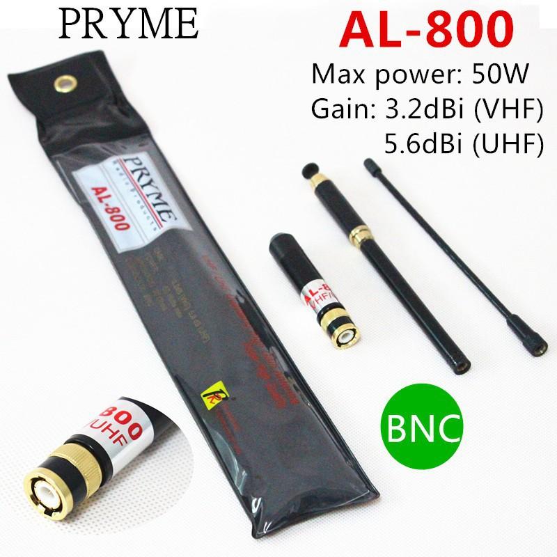 AL-800 Duald band VHF+UHF 144/430MHz High Gain Telescopic Antenna BNC for walkie talkie ICOM IC-V8 IC-V80 IC-V80E IC-V82 IC-V85(China (Mainland))