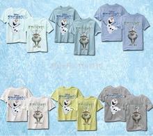 Children Boys Girls T-shirts Summer Short Sleeve Shining Cartoon Olaf Sven Kids Baby Tee Tops 1-6 Years Free Shipping(China (Mainland))