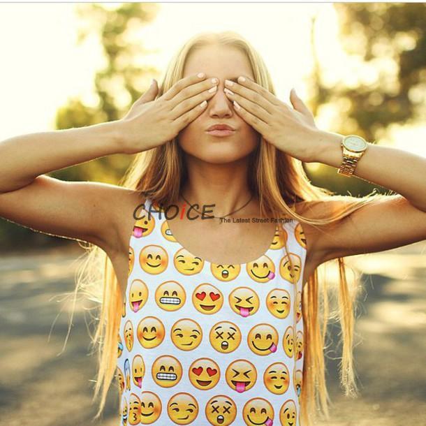 Женский топ Emoji crop top 2 ! 2015 t Emoji , s/xxl, 3224 CHOICE 3224 женский комбинезон no 2015 2 s xxl 14060235 1490
